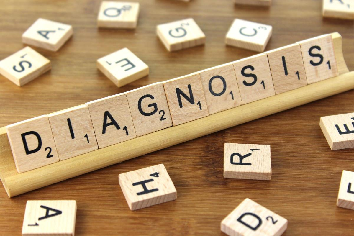 Diagnosis wood letters