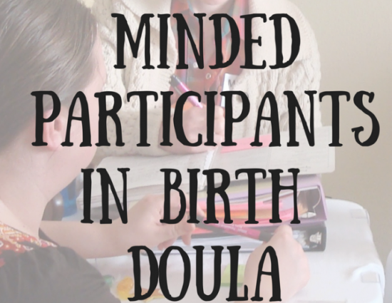 Career Minded Participants in Birth Doula Trainings. Text over image of counselor.