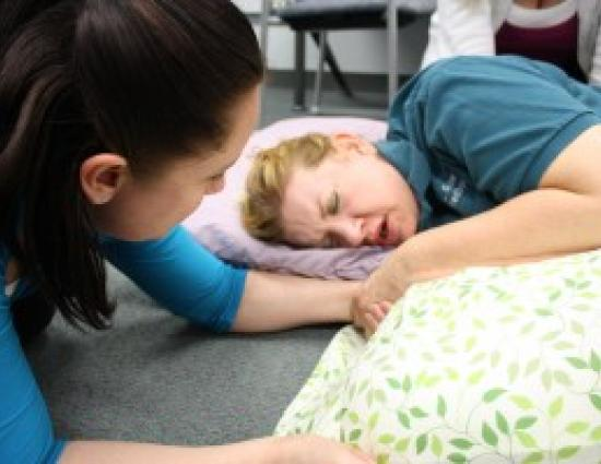 Doula assisting mother - jpg